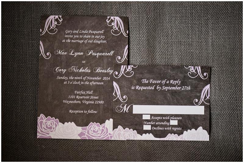 lavender and gray invitation