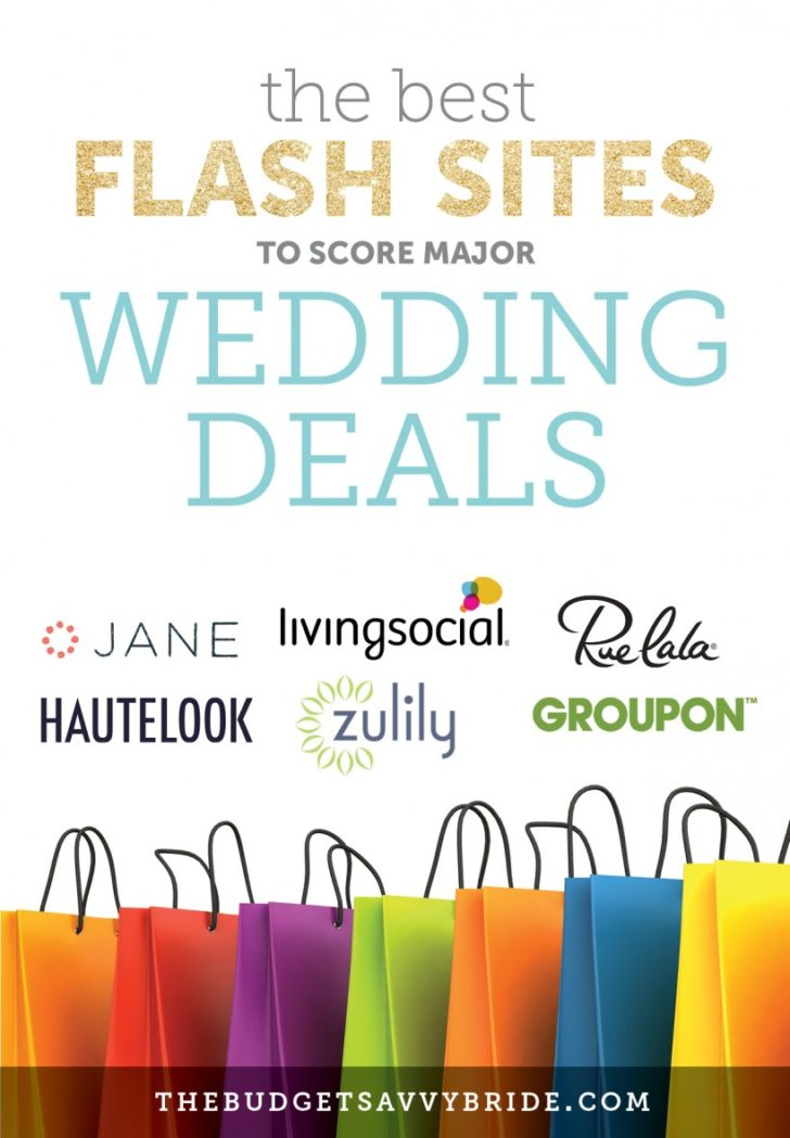 best flash sites for wedding deals