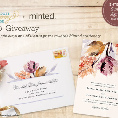 Minted Giveaway on The Budget Savvy Bride! Enter to win one of 3 prizes towards wedding paper pretties from Minted!