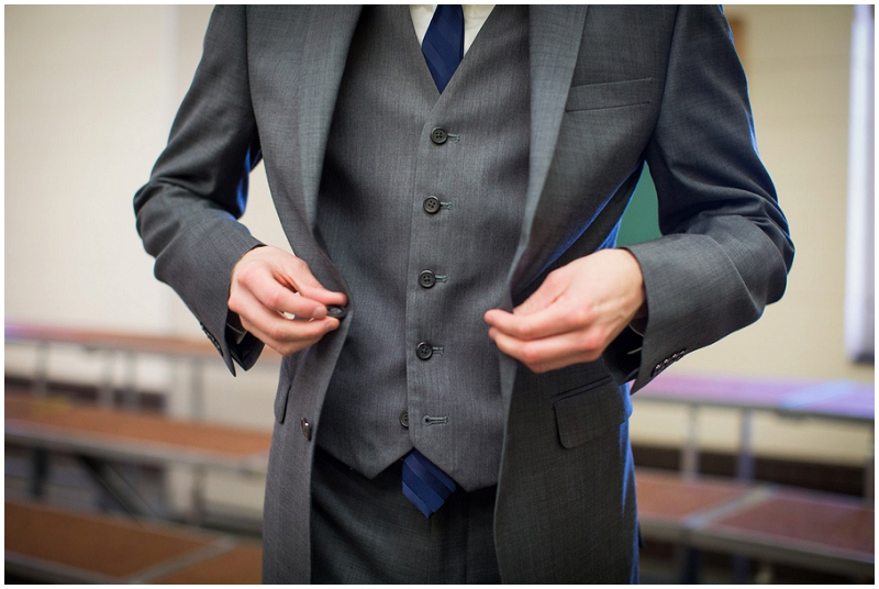 navy and mint groom attire