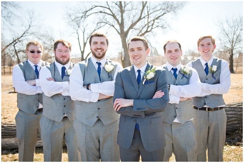 gray and navy groomsmen attire