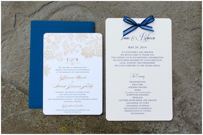 navy wedding invitation