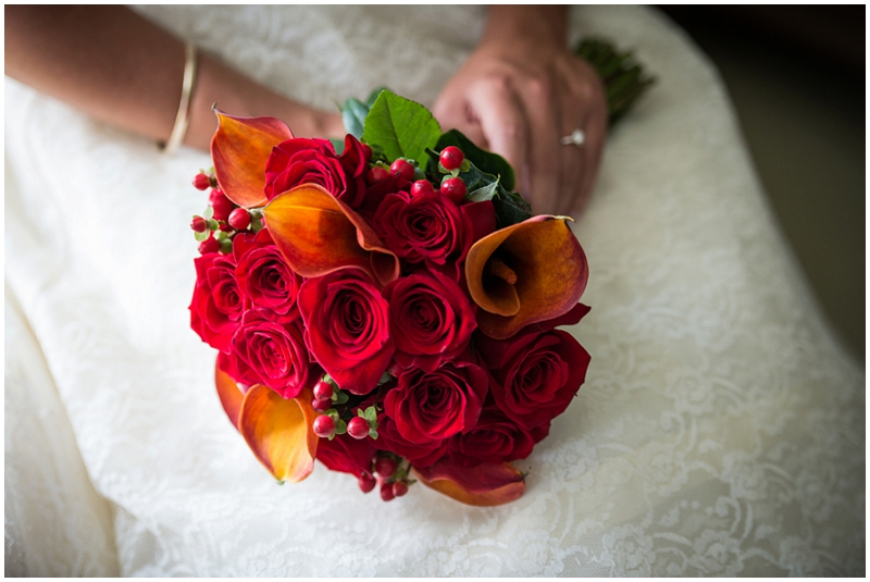rose and calla lily bouquet - fall wedding bouquet