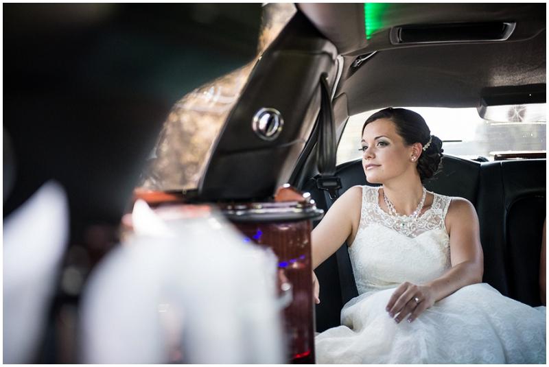 bride limo ride