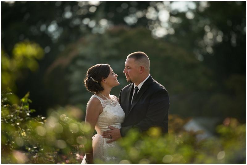garden bridal photos