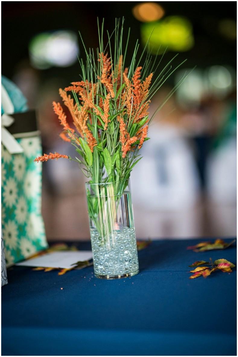 rust flowers - fall wedding decor