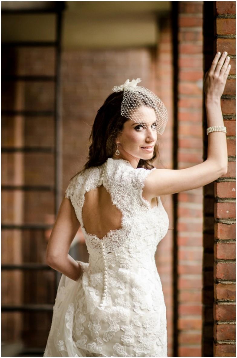 lace keyhole wedding dress