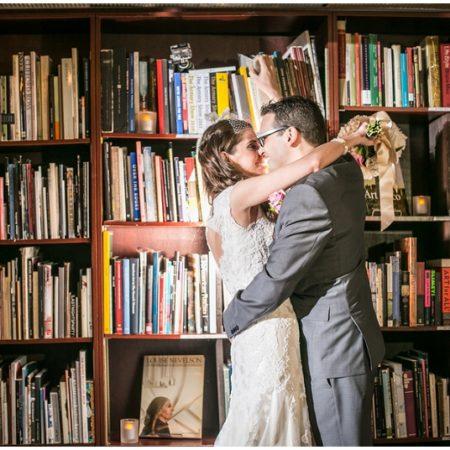 wedding bookstore photos