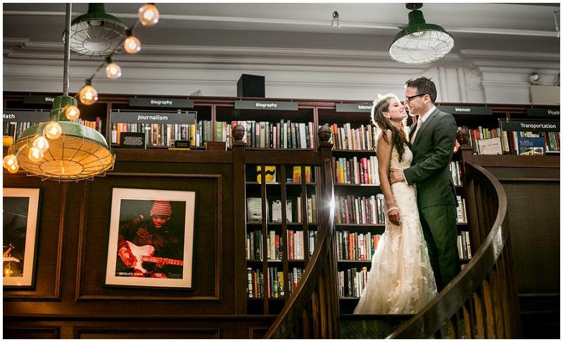 bookstore couple photo