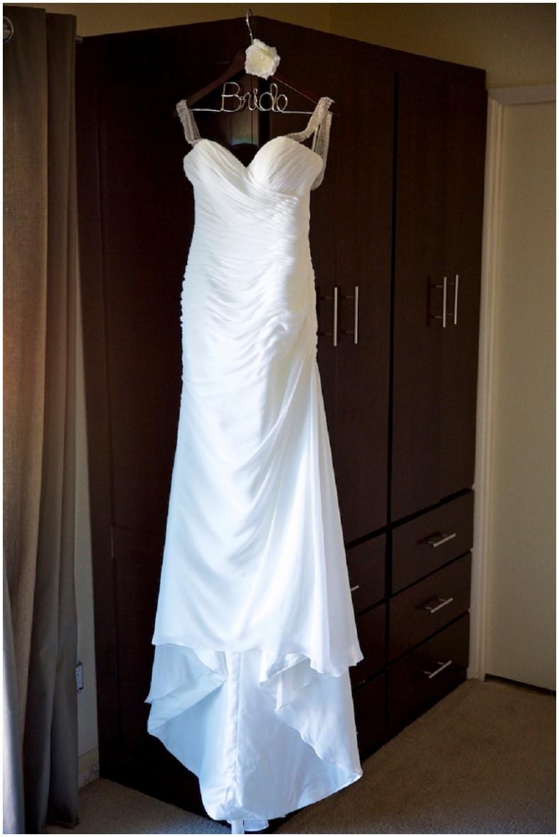 drop back wedding dress