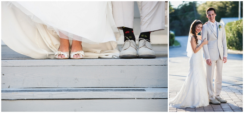 bride and groom shoes photo
