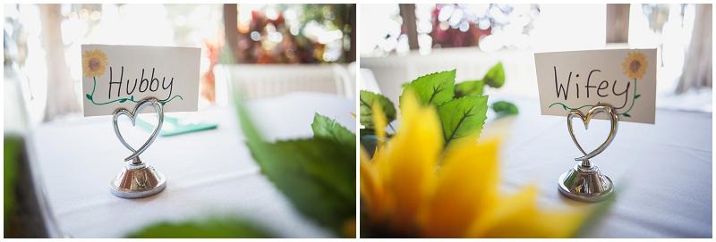 sunflower reception decor