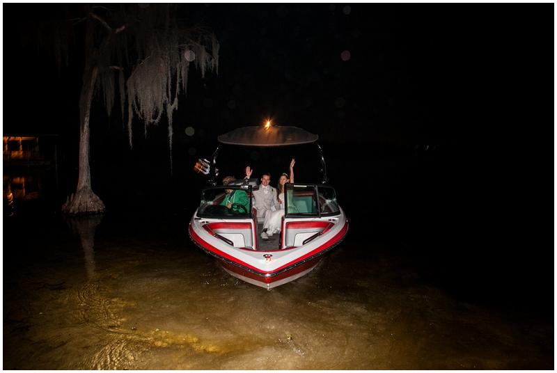 wedding boat send off