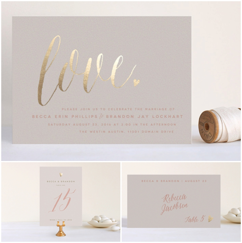Minted now has table numbers and place cards to coordinate with many of their popular invitation designs!
