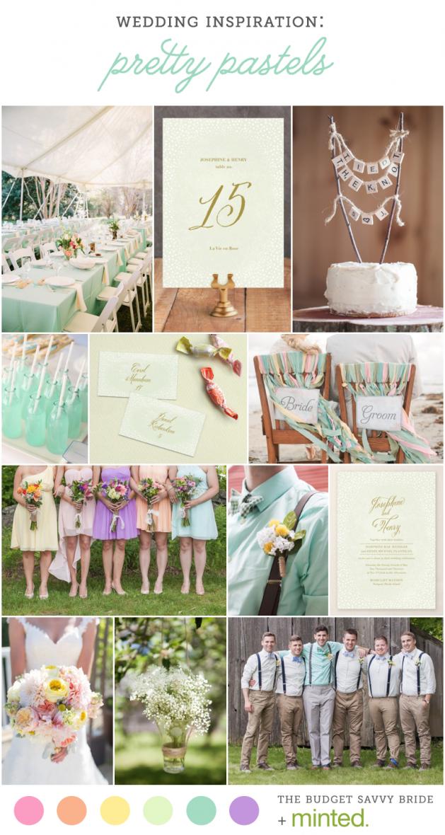 Minted Pretty Pastel Spring Wedding Inspiration