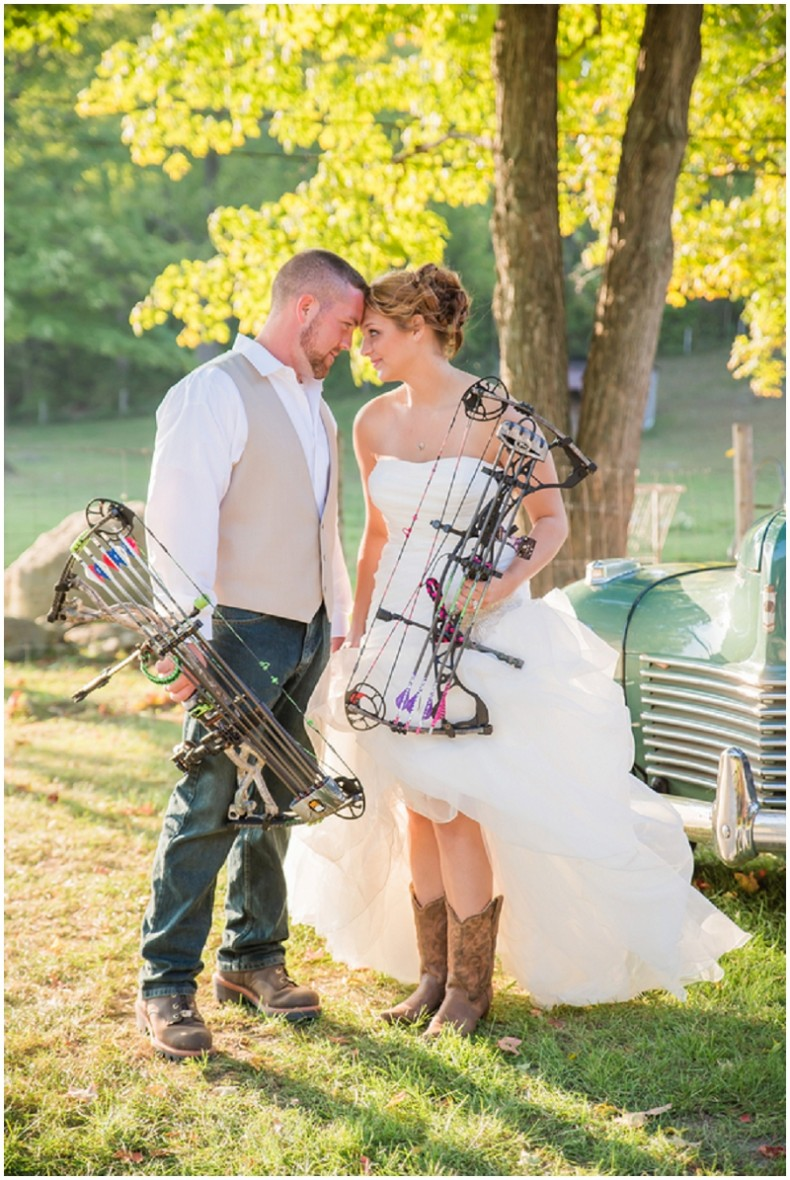 bride and groom crossbow