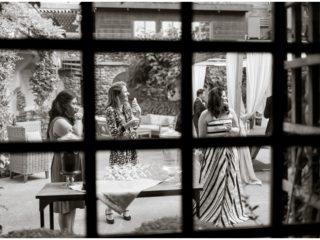 Vineyard wedding reception