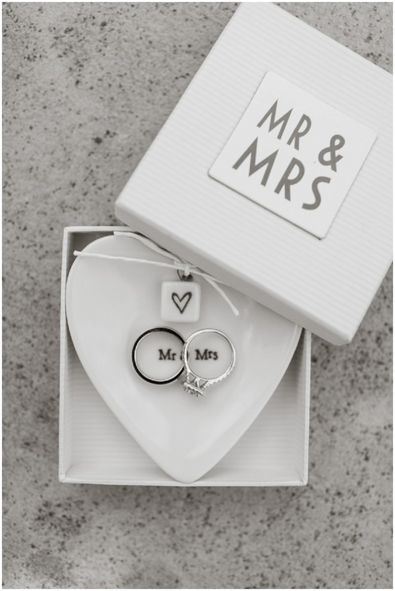 wedding rings in ring dish from Crate & Barrel: http://bit.ly/1Jo5HyM