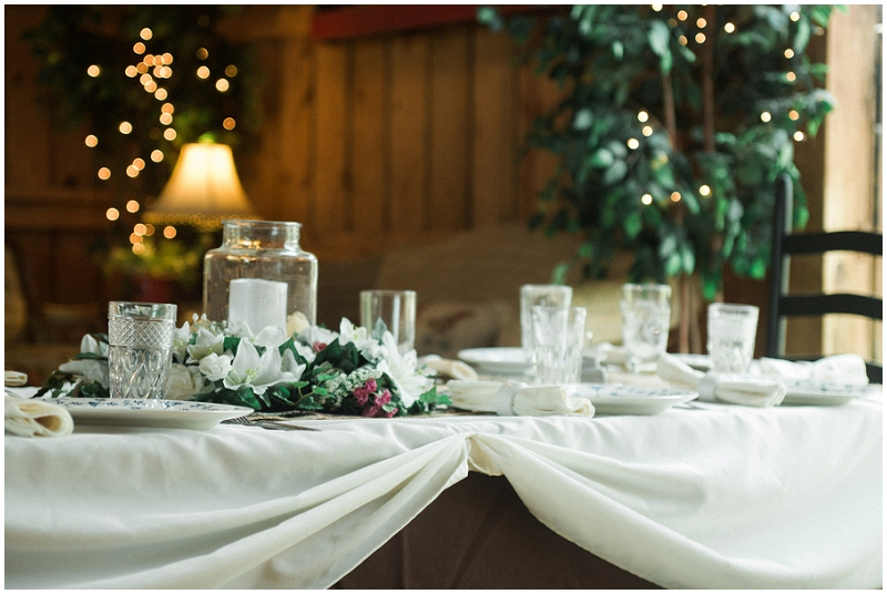 rustic reception decor