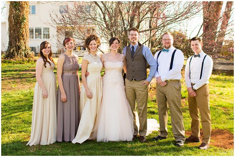 neutral wedding party