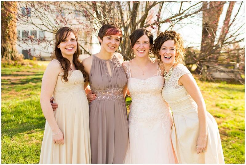 cream bridesmaid dresses