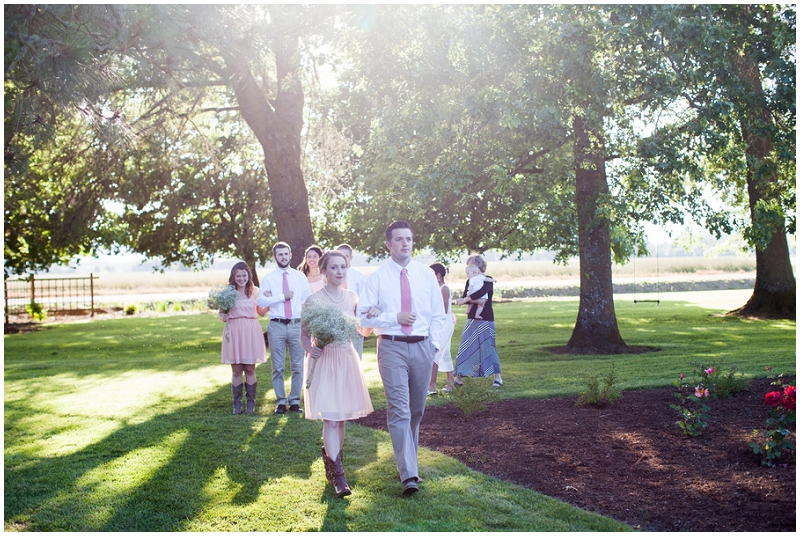 outdoor wedding processional