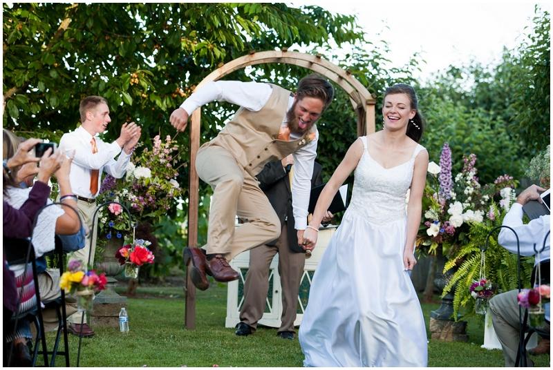outdoor wedding recessional