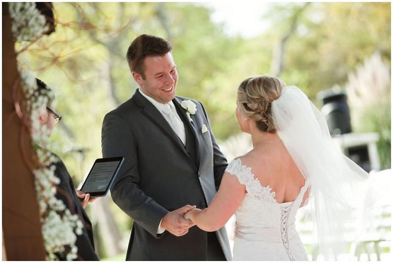 bride and groom ceremony photos