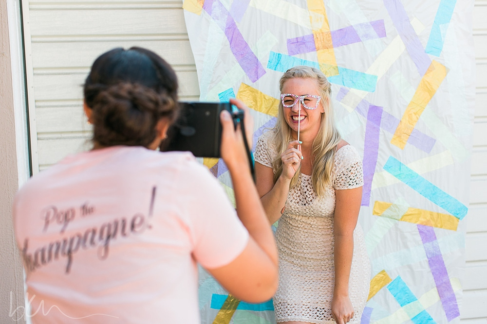 photobooth backdrop / styled shoot from Pop the Champagne Events