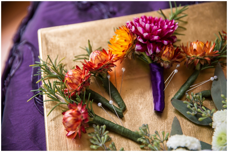 fall boutonnieres