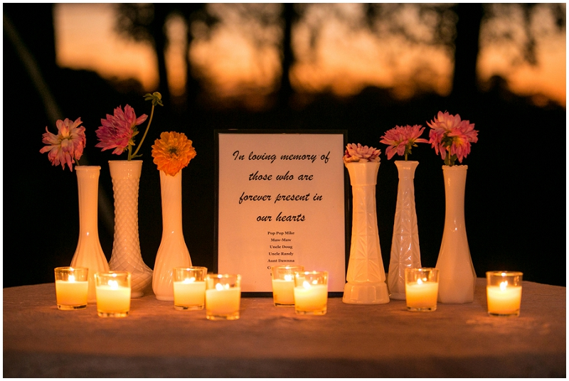 wedding memorial for loved ones