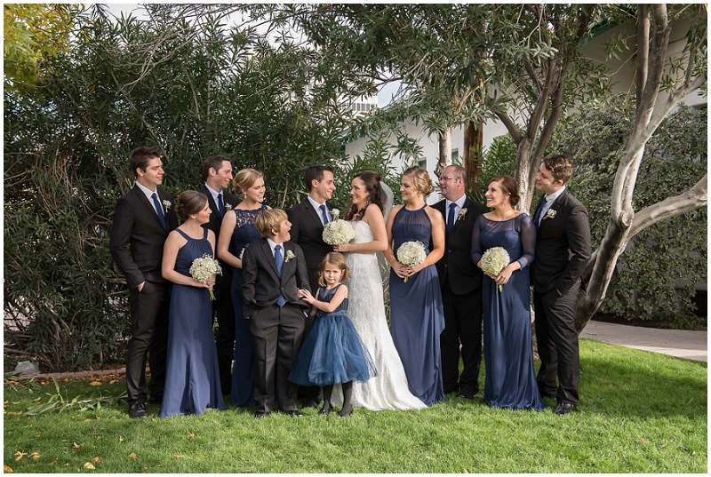 navy and black bridal party