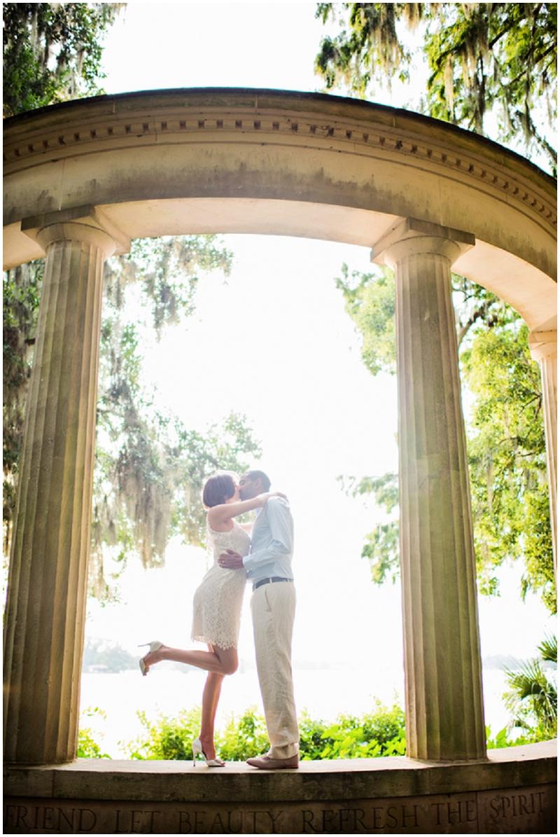 column wedding photos