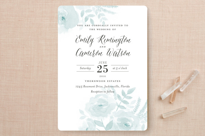 Watercolor Wedding Invitations from Minted