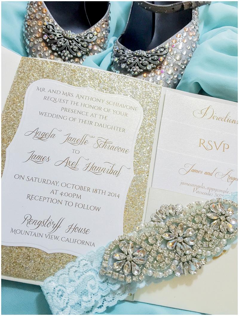 sparkly wedding details