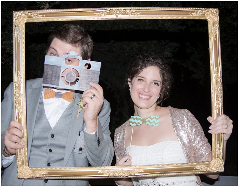 wedding reception photobooth