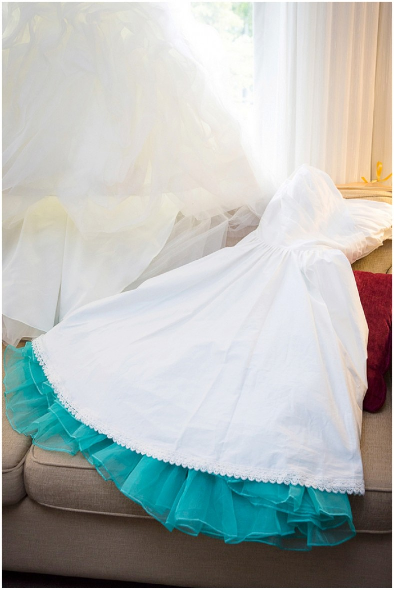 two wedding dresses
