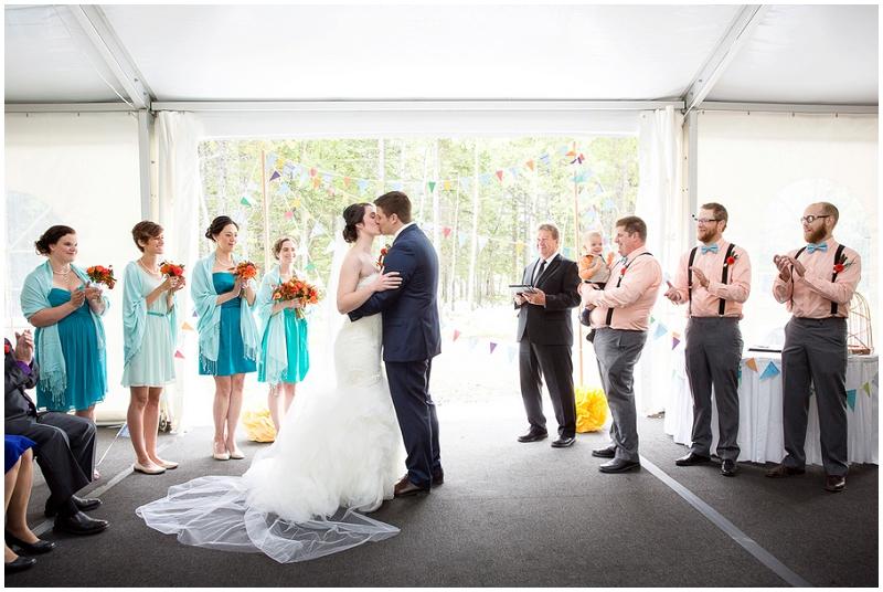 semi-outdoor wedding ceremony