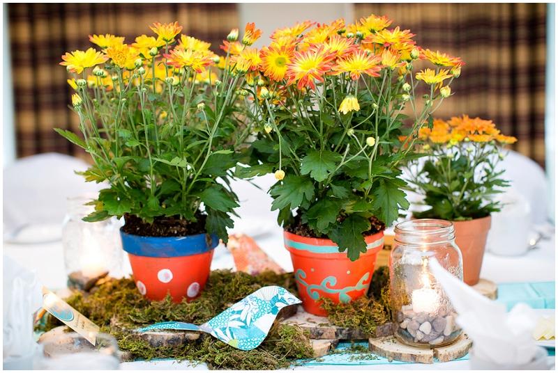 inexpensive wedding reception flowers