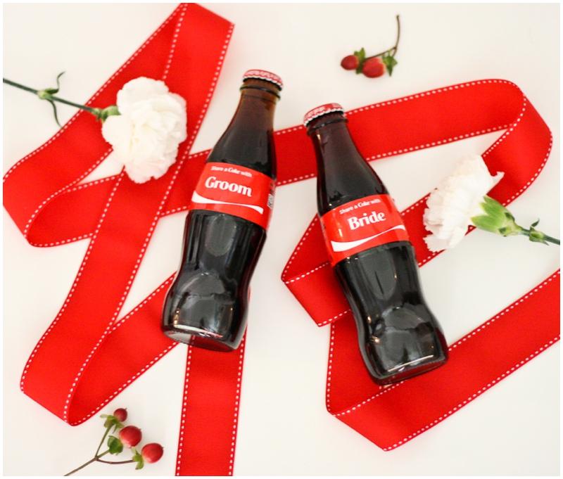 Custom Bride and Groom Share a Coke Bottles