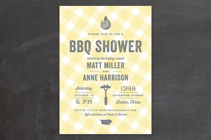 BBQ Wedding Shower Invitations from Minted