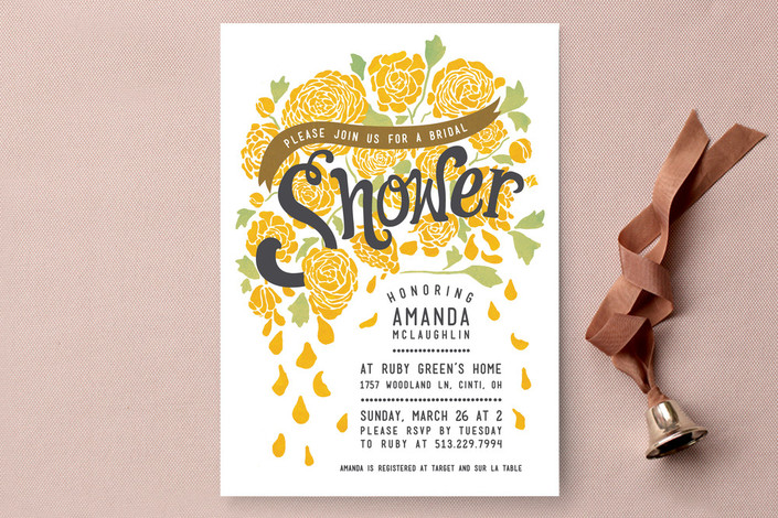 Floral Bridal Shower Invitations from Minted