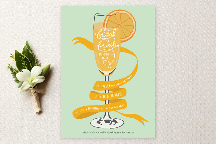 Mimosa Bridal Shower Invitations from Minted