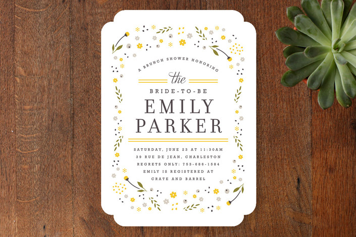 Modern Floral Bridal Shower Invitations from Minted