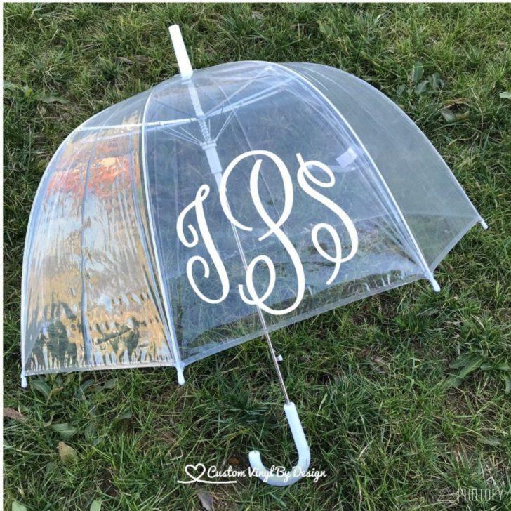 monogrammed umbrella