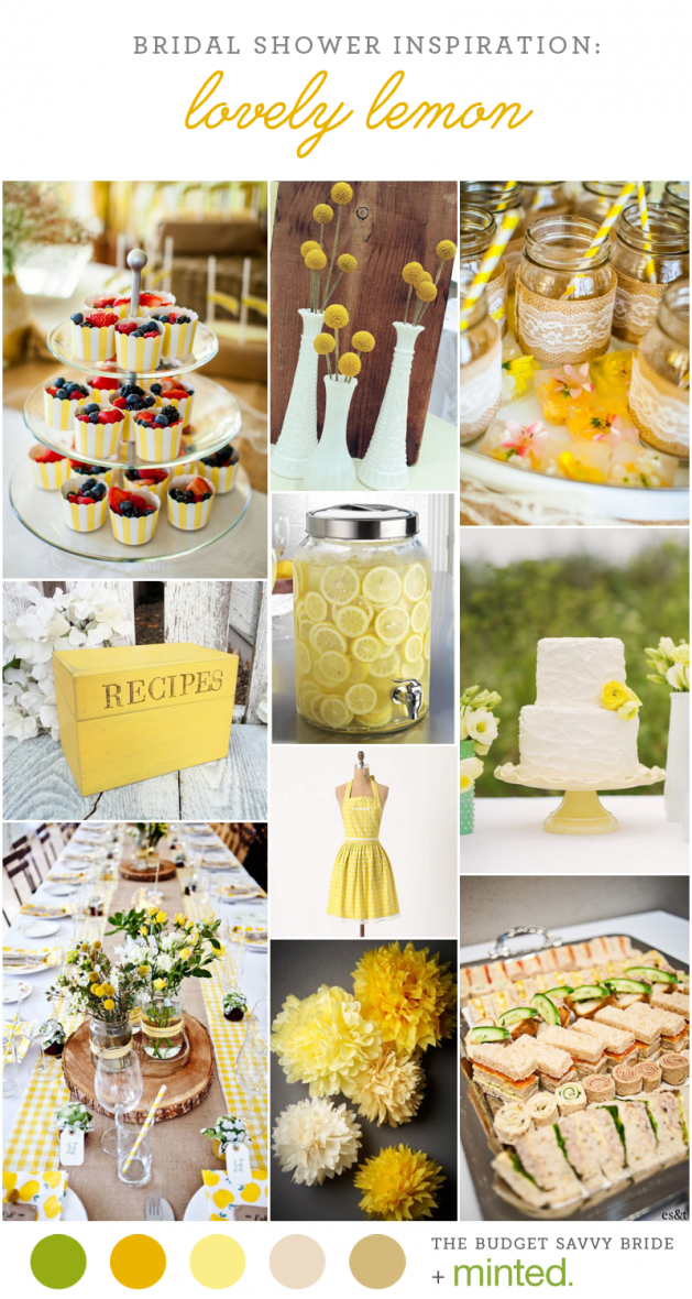 Yellow Bridal Shower Inspiration