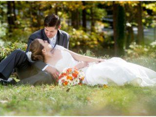 fall outdoor wedding photos