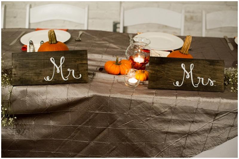 pumpkin reception decor