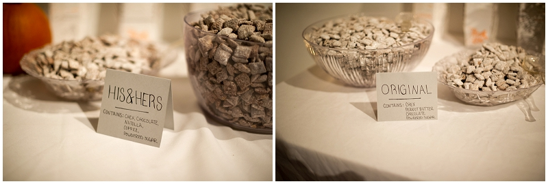 puppy chow wedding favors