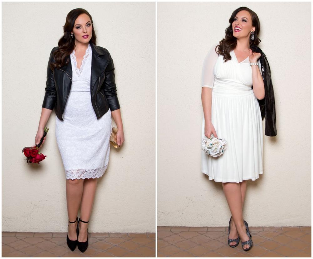 edgy plus size bride wedding dress